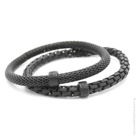 Bracelets Mr Snake noir