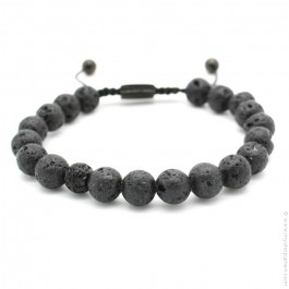 Bracelet Mr Stone black lava