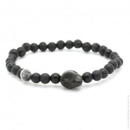 Cheyenne black agate bracelet