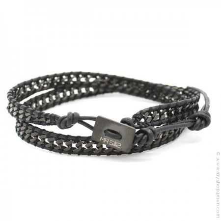 Bracelet en cuir Mr Wrap