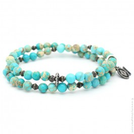 Bracelet double imperial turquoise