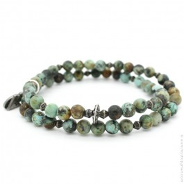 Bracelet double green turquoise