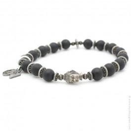 Bracelet buddha et onyx
