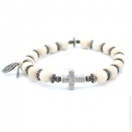 Bracelet croix river stone