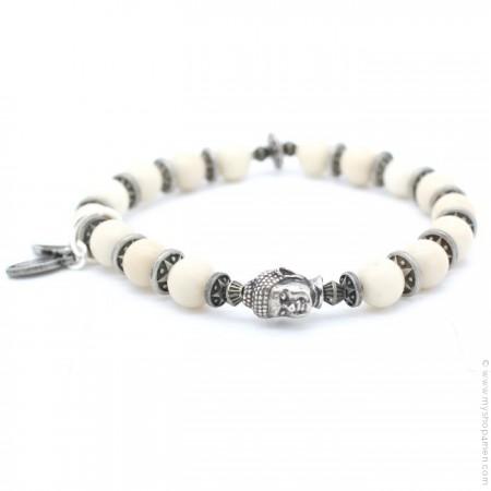 Bracelet buddha river stones