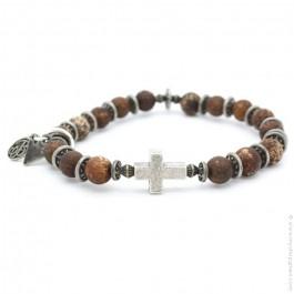 Bracelet croix et old crackle