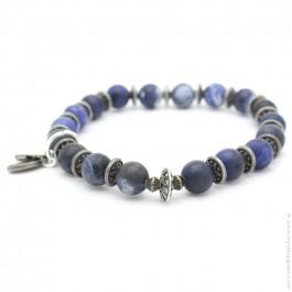Blue jean matte bracelet