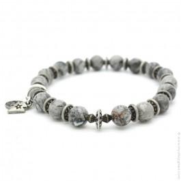 Bracelet jasper grey