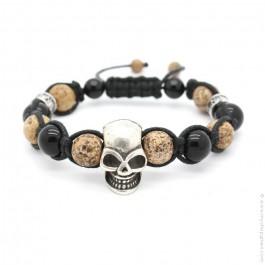 Bracelet Shamballa Tête de mort