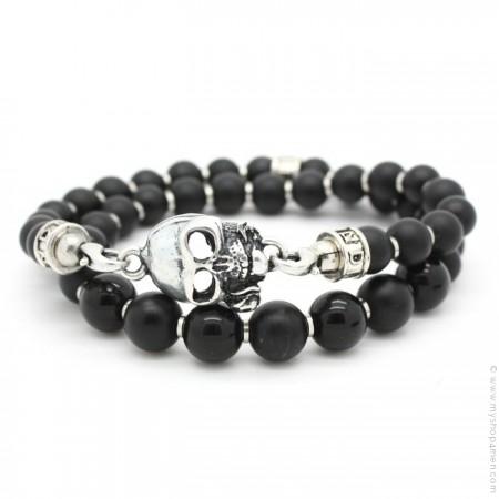 Bracelet Black Skull of rose