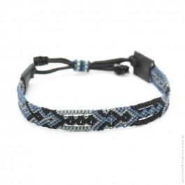 Bracelet tissé bleu