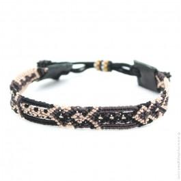 Bracelet tissé brun