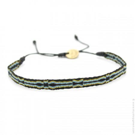 Bracelet Argentinas 120 bleu noir