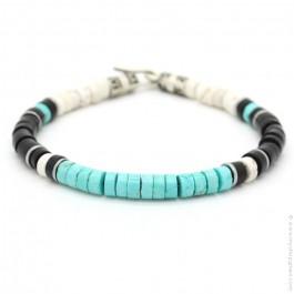 Bracelet Native turquoise noir