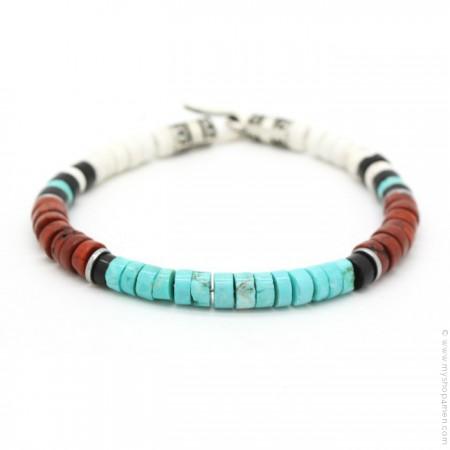 Bracelet Native turquoise brique