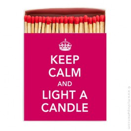 Allumettes de luxe Keep Calm and Light a Candle