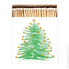 Christmas tree luxury matchbox