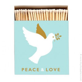 Peace and Love luxury matchbox