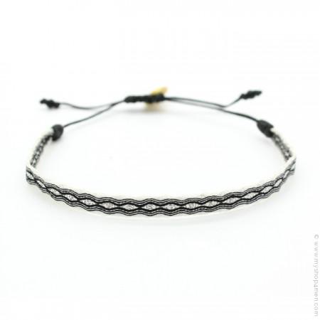 Bracelet Argentinas 120 noir et blanc