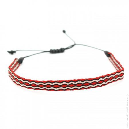 Bracelet Argentinas 120 rouge et noir