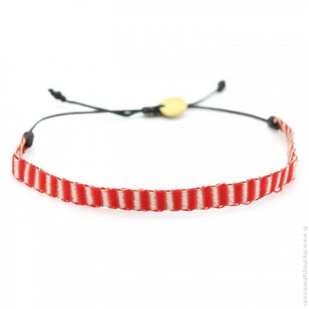 Bracelet Argentinas 120 ivoire et rouge
