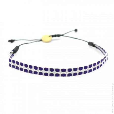 Bracelet Argentinas 120 gris argent et violet