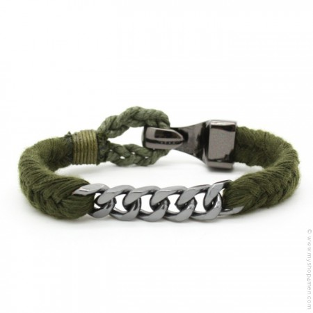Bracelet Hipanema Done kaki