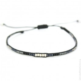 Kaki silver beads Boho bracelet