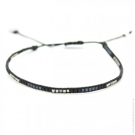 Bracelet boho multi noir