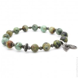 Green turquoise bracelet