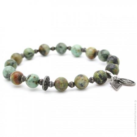 Bracelet green turquoise