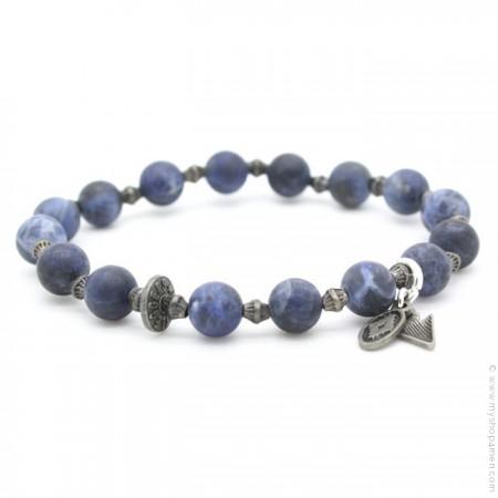 Bracelet blue jean mat