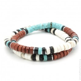 Turquoise and rust Native bracelet