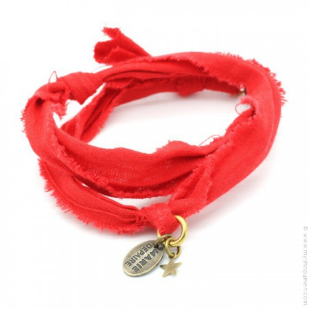 Bracelet vintage rouge