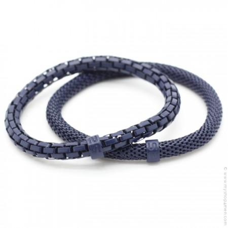 Bracelets Mr Snake marine
