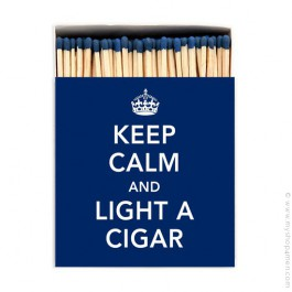 Keep calm and light a cigar luxury matchbox
