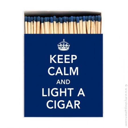 Keep calm and light a cigar luxury matchbox