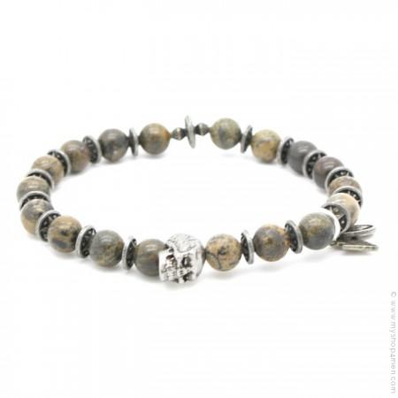 Bracelet tête de mort earth stone