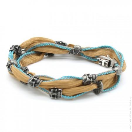 River camel and skulls bracelet