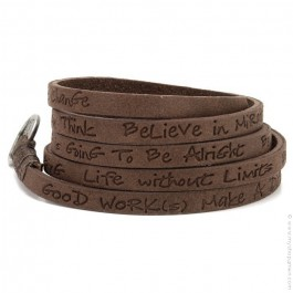 Toffee around eco believe you can bracelet