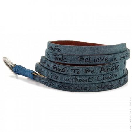 Ocean around eco believe you can bracelet