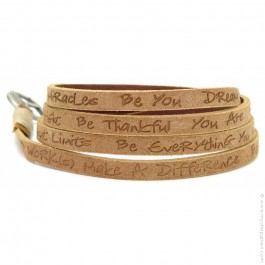 Wheat around eco believe you can bracelet