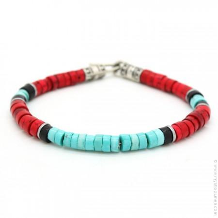 Bracelet Native turquoise rouge