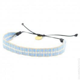 Bracelet maxi Argentinas camel bleu