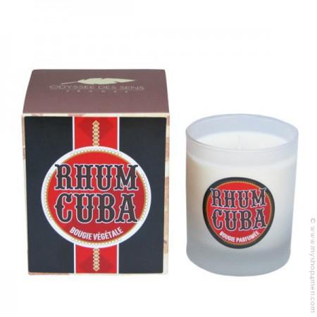 Rum perfumed vegetal candle