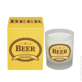 Beer perfumed vegetal candle