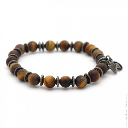Bracelet Sonora tiger eyes matt