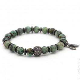Bracelet Sonora cross green turquoise
