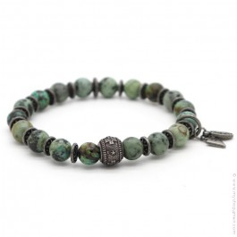 Green turquoise and cross Sonora bracelet