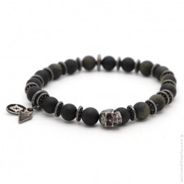 Obsidian matt Sonora bracelet